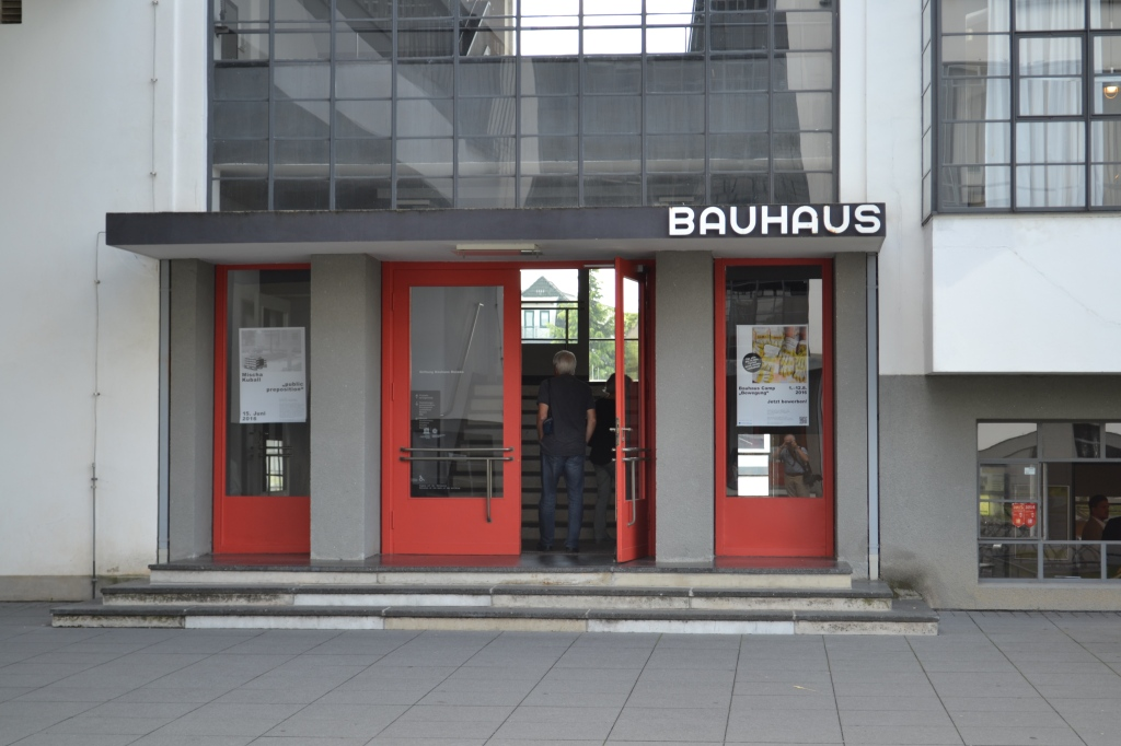 the bauhaus entrance