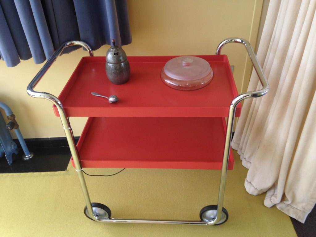 red dining room trolly