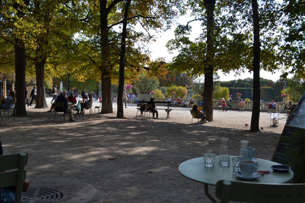 view from the Pavillon de la Fontaine cafe